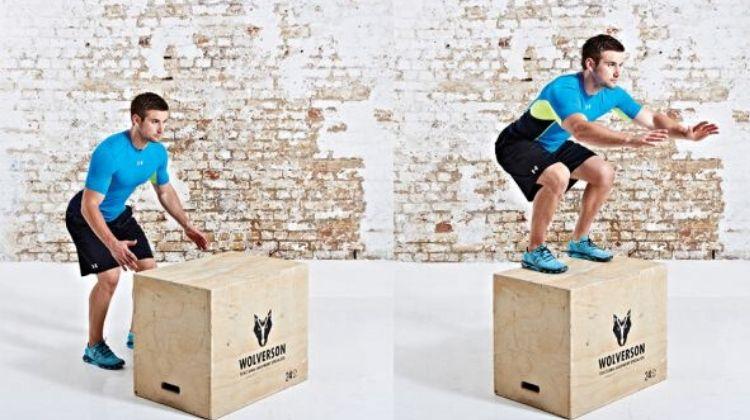 Exercice box jump