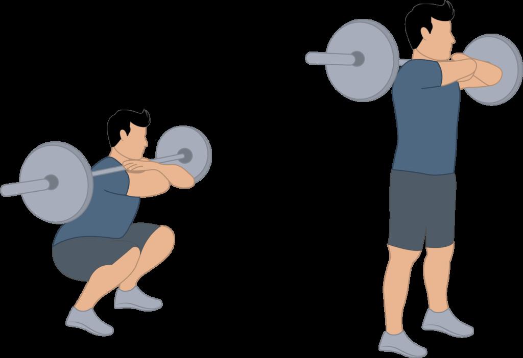 Exercice du front squat