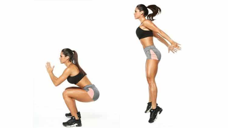 Exercice du squat sauté