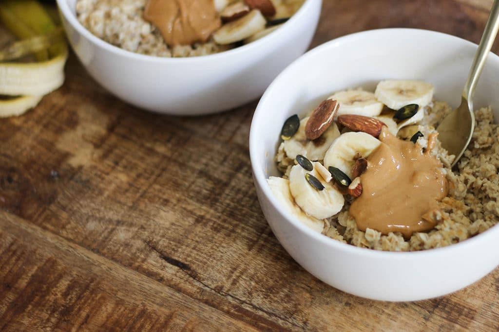 Porridge protéiné et prise de masse
