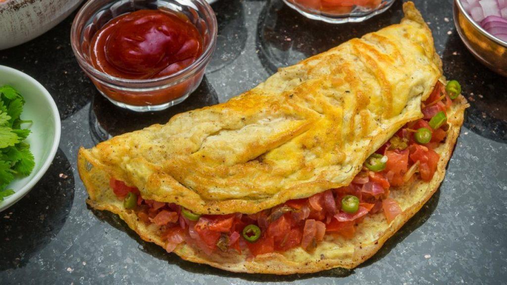 Omelette indienne et prise de masse