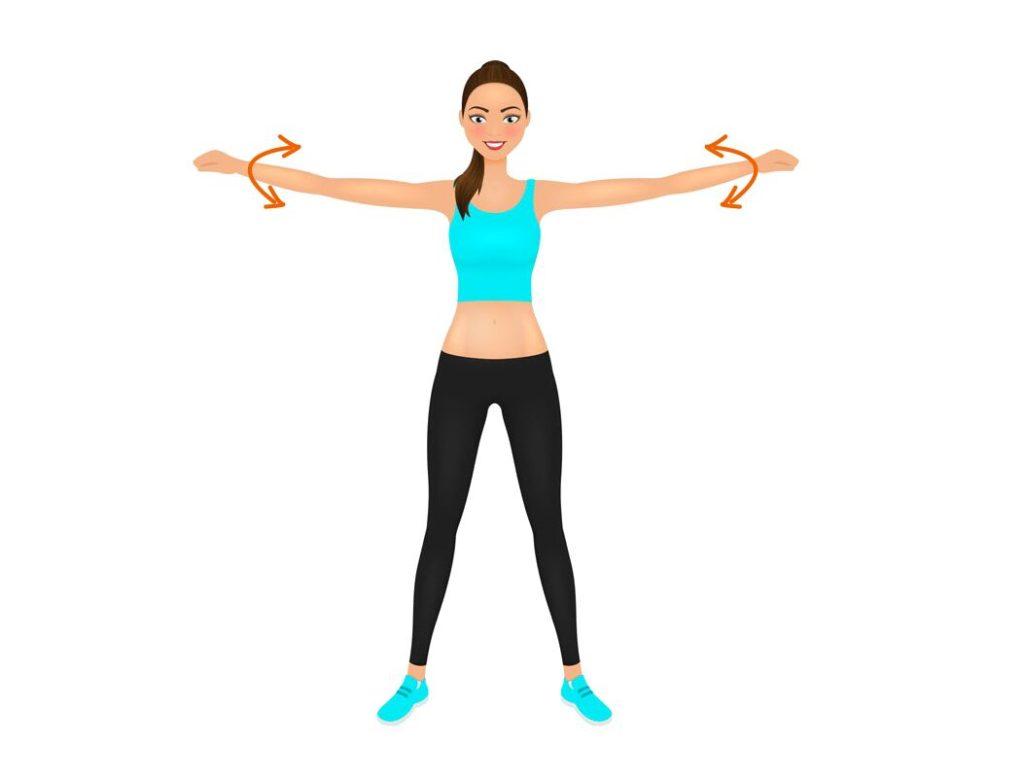 exercice cercle bras