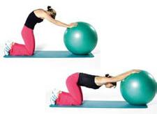 Exercice d'étirement du ballon